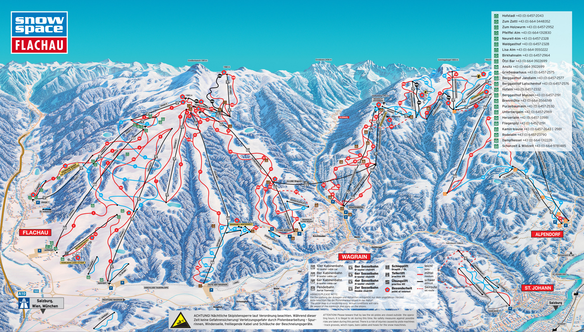 Flachau Ski Map Free Download