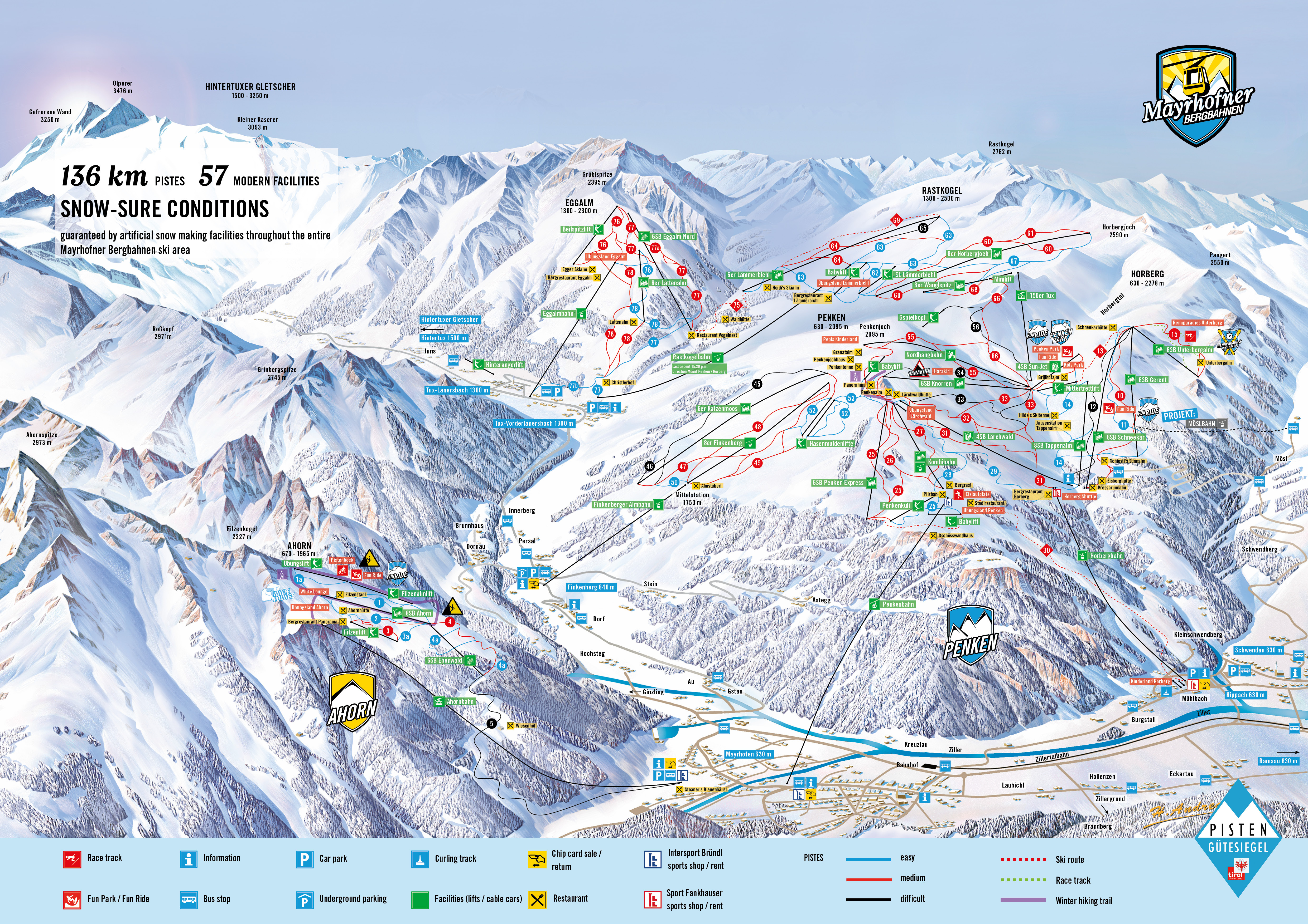 Mayrhofen Ski Trail Map Free Download