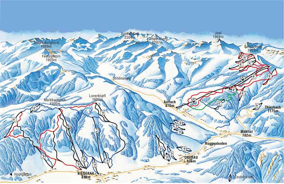 Wildschönau Ski Resort Ski Map