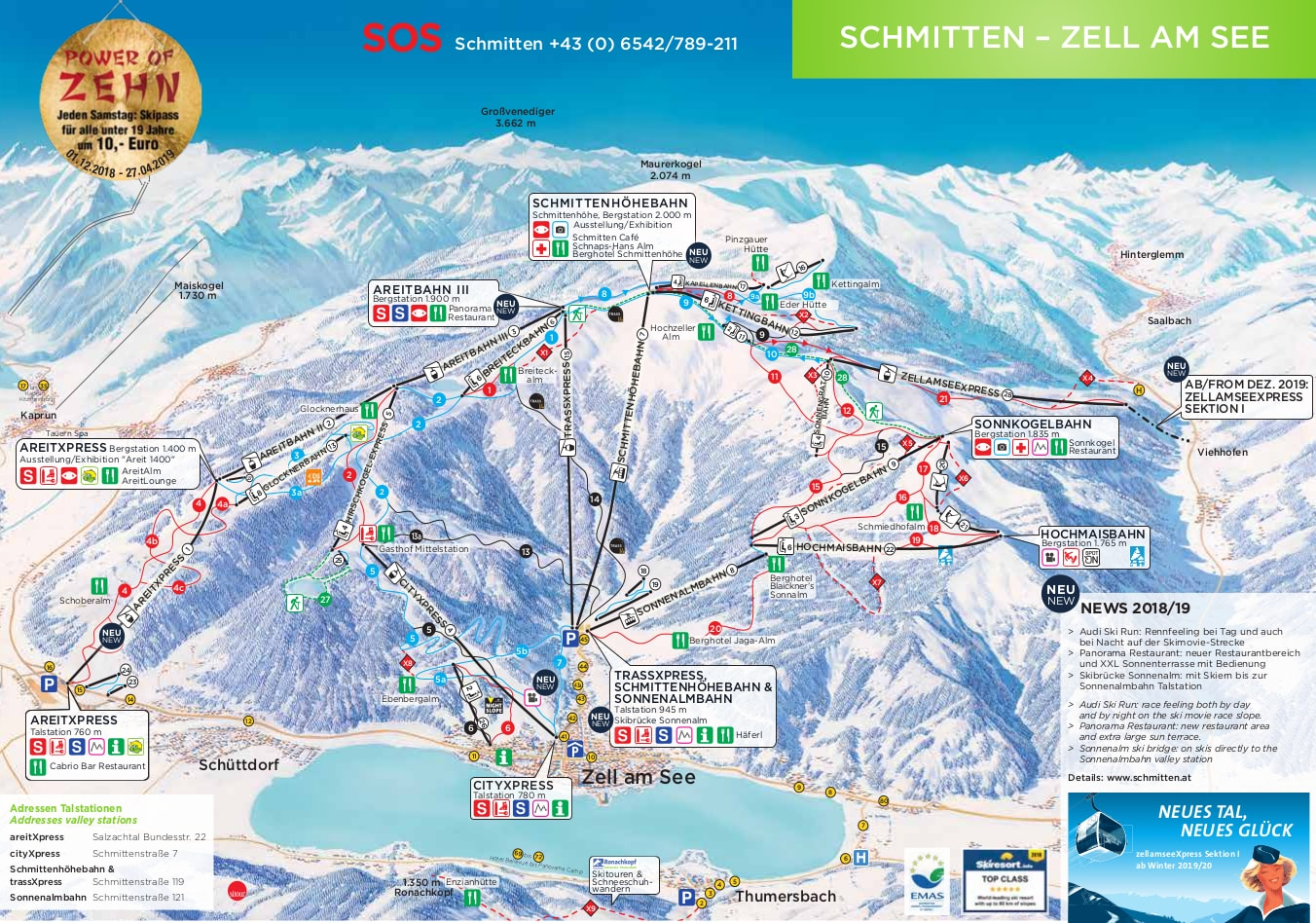 Zell Am See Ski Map Free Download