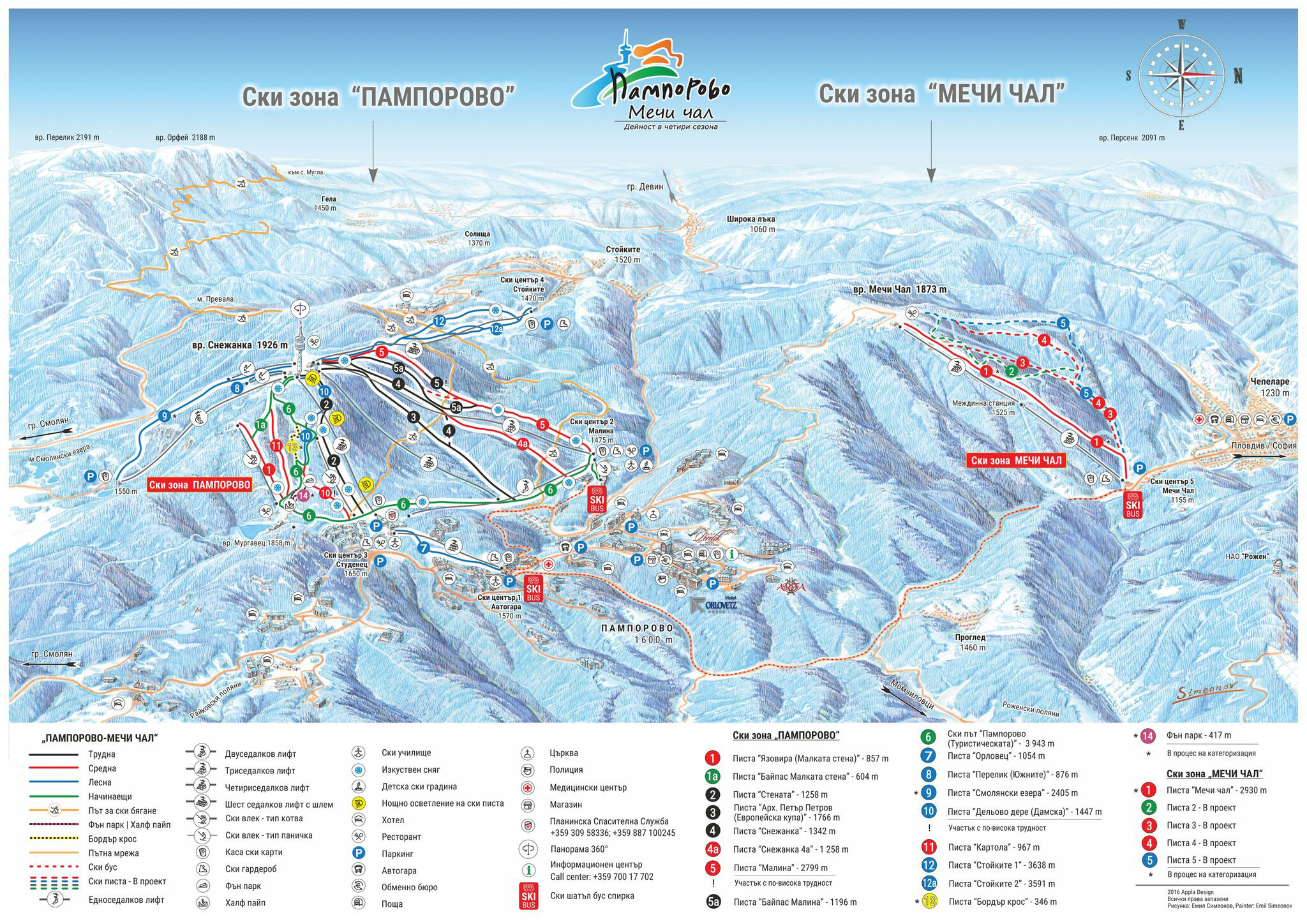 Pamporovo Ski Trail Map Free Download