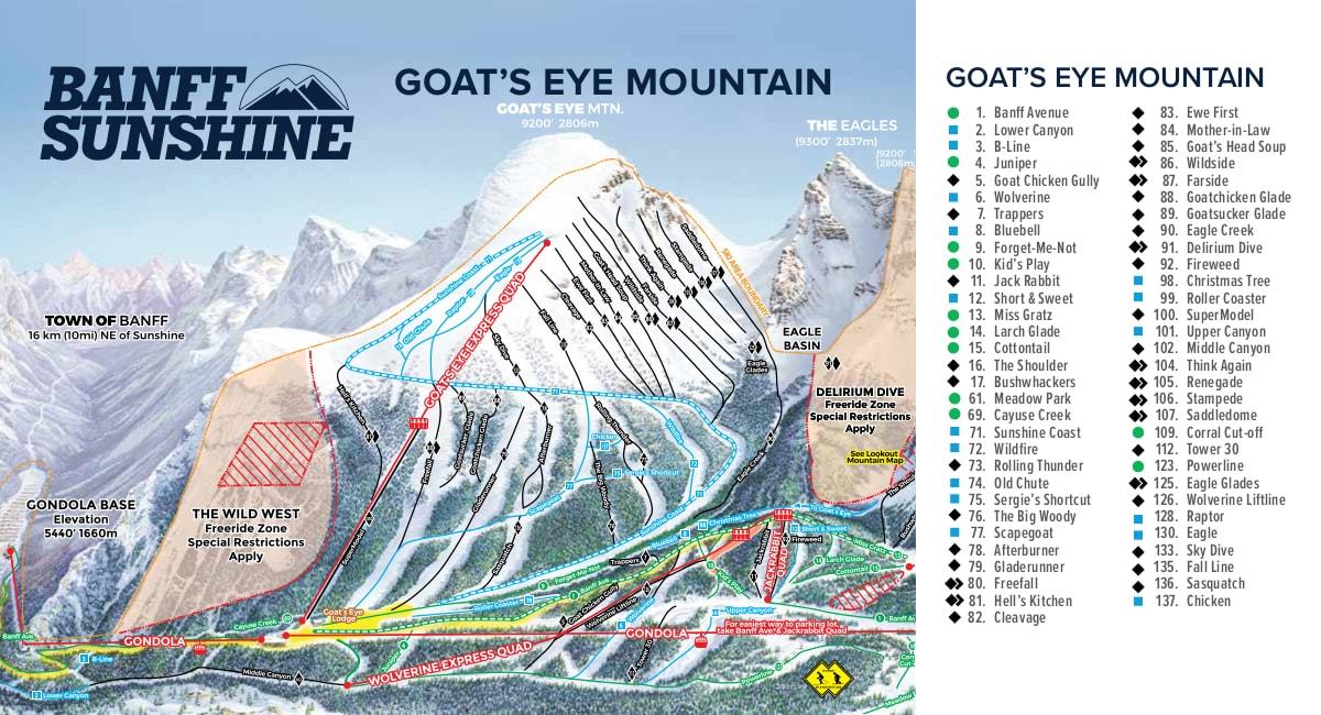 Banff Ski Trail Map Free Download on