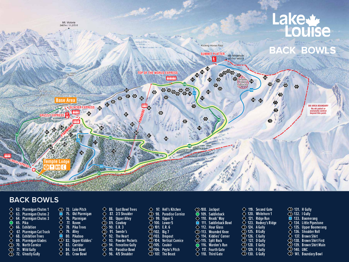 Lake Louise Ski Map Free Download