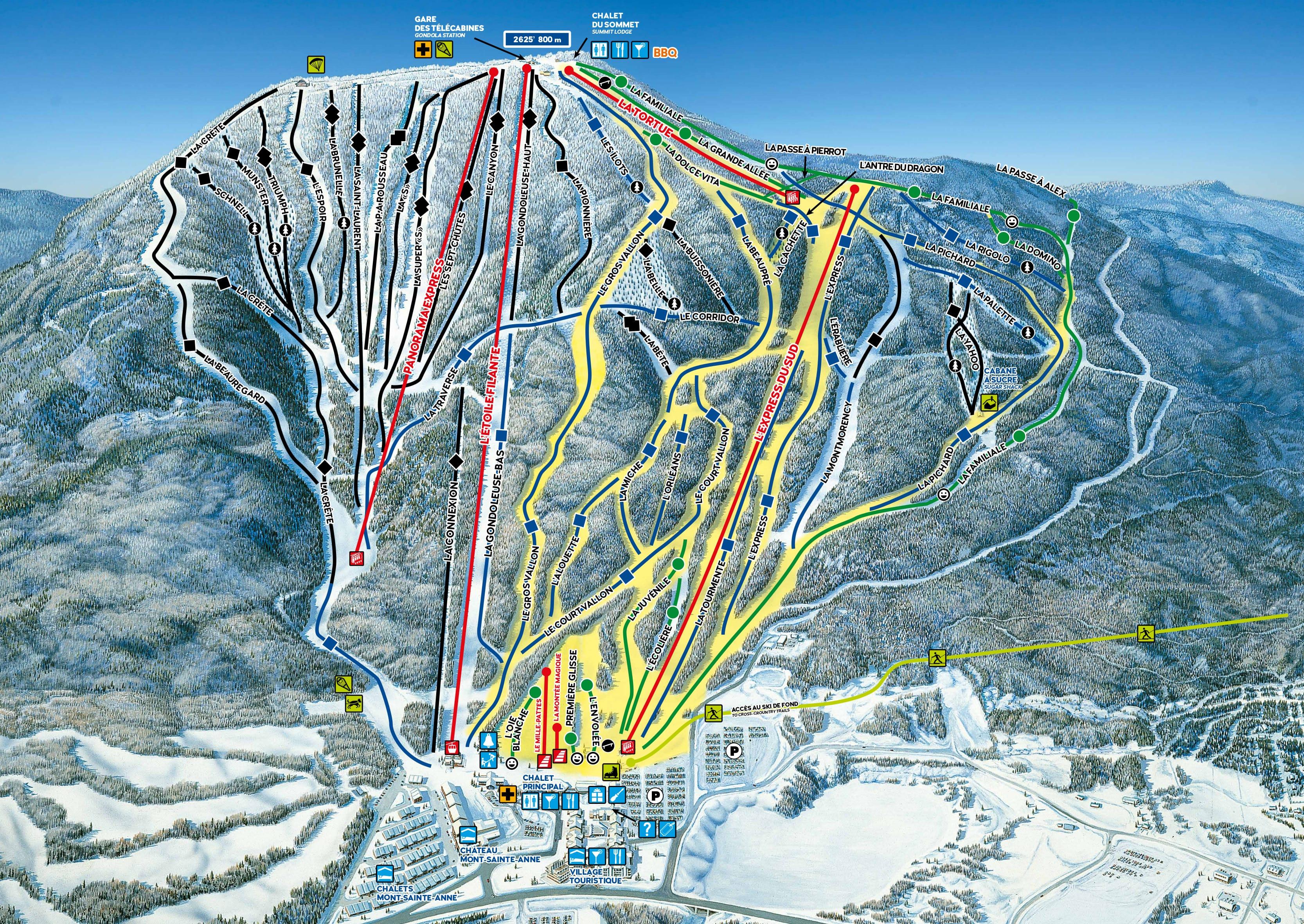 Mont Sainte Anne Ski Map Free Download on