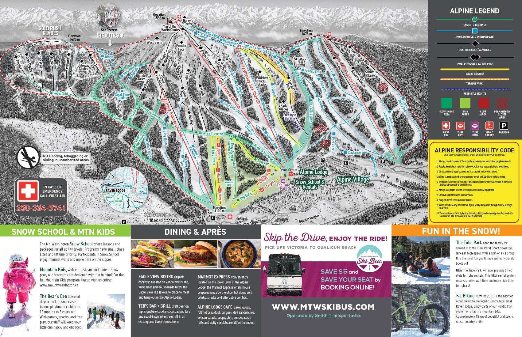 Mount Washington Ski Trail Map Free Download