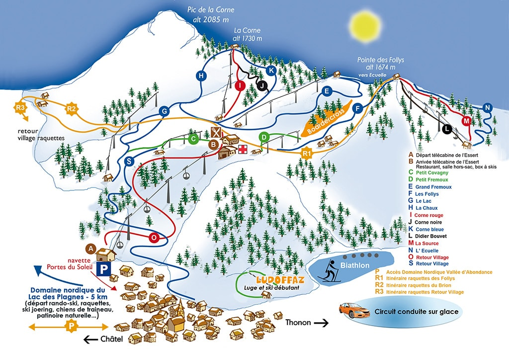 Abondance Ski Map Free Download