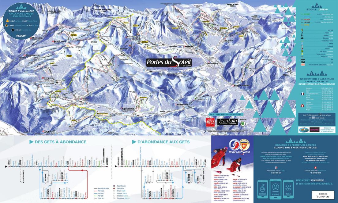 Avoriaz Ski Trail Map Free Download