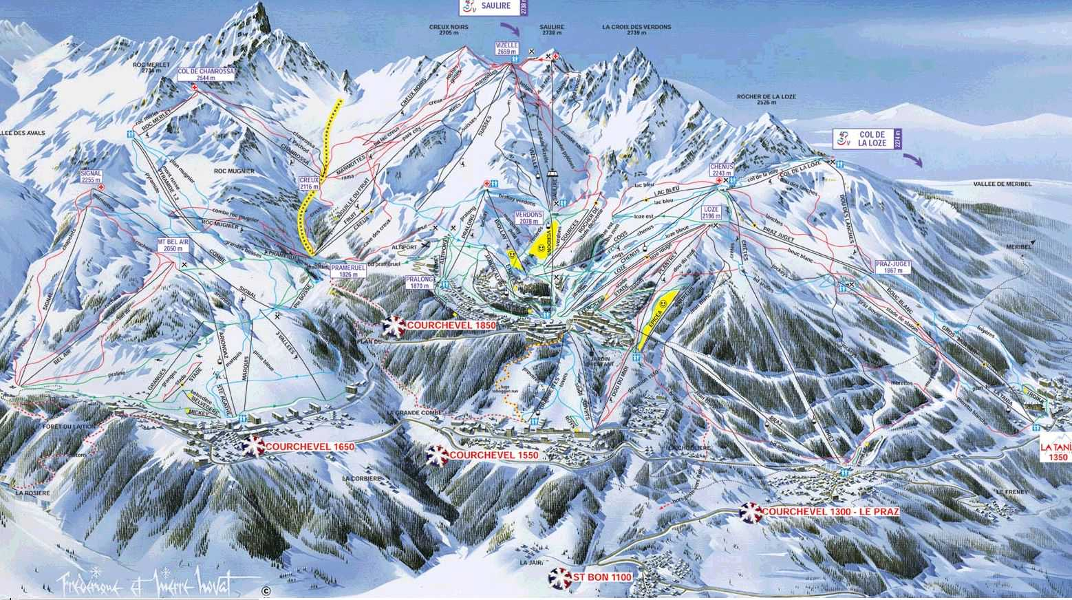 Courchevel Ski Map
