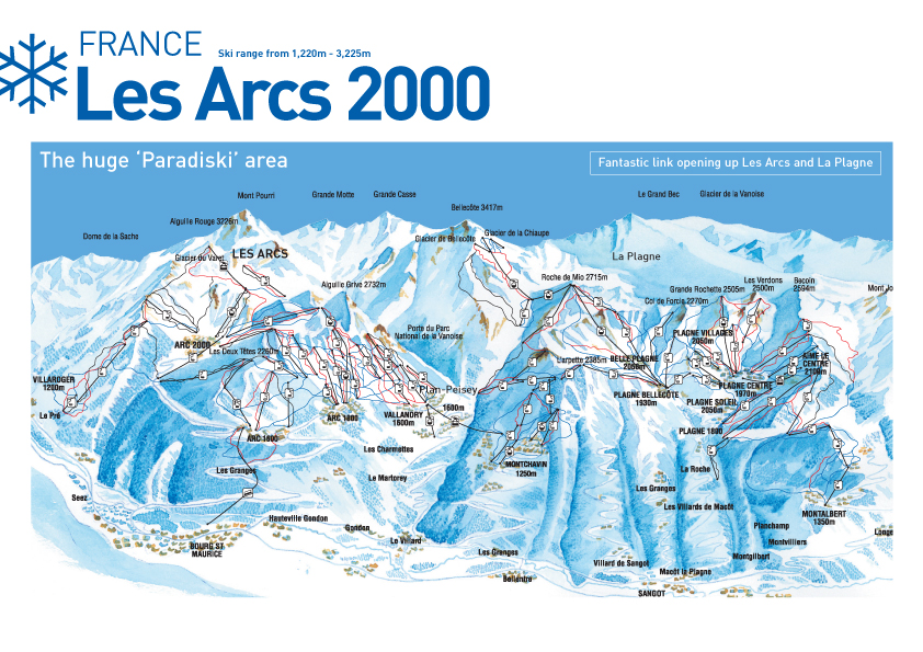 Les Arcs Ski Map Free Download