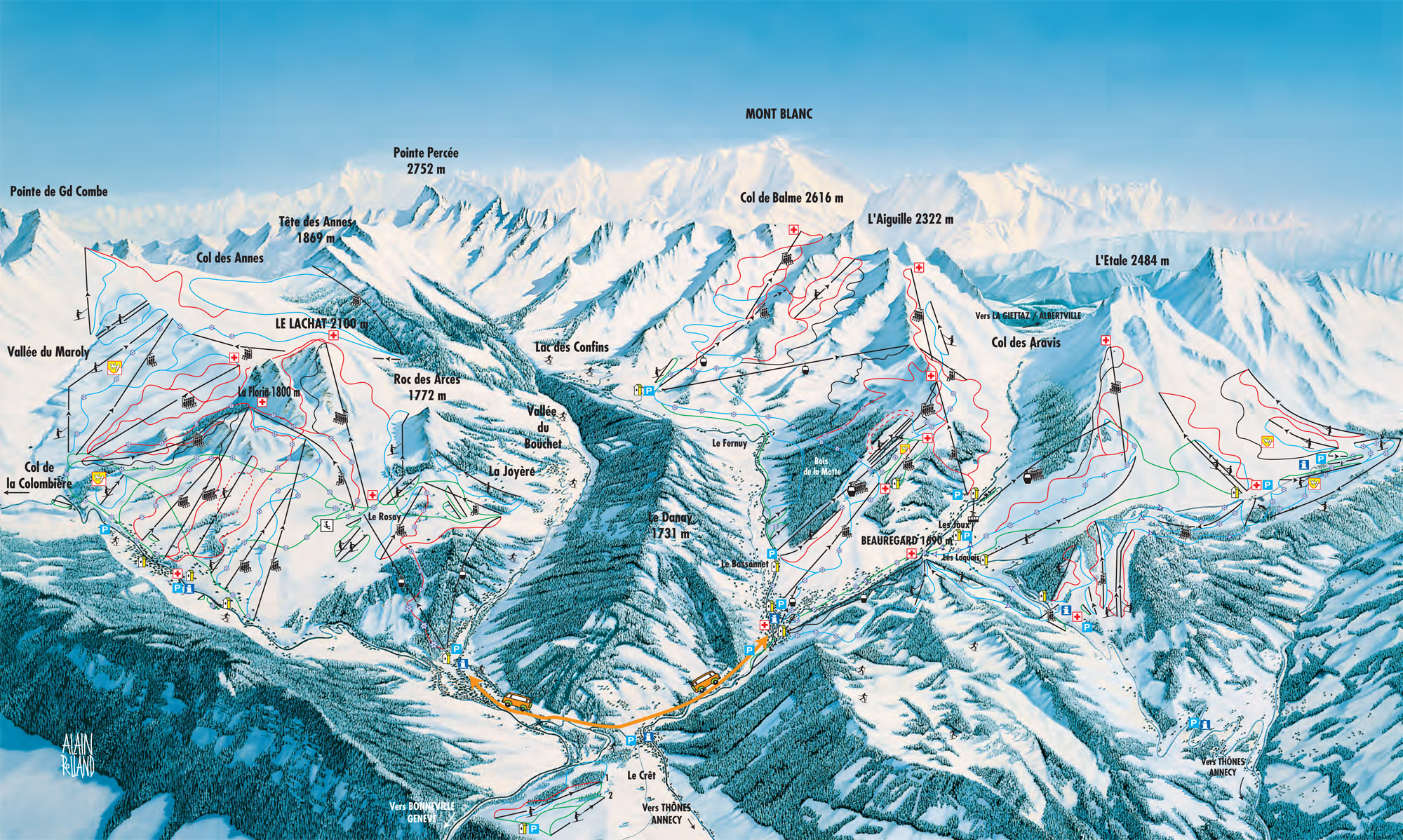 Massif Des Aravis Ski Map Free Download
