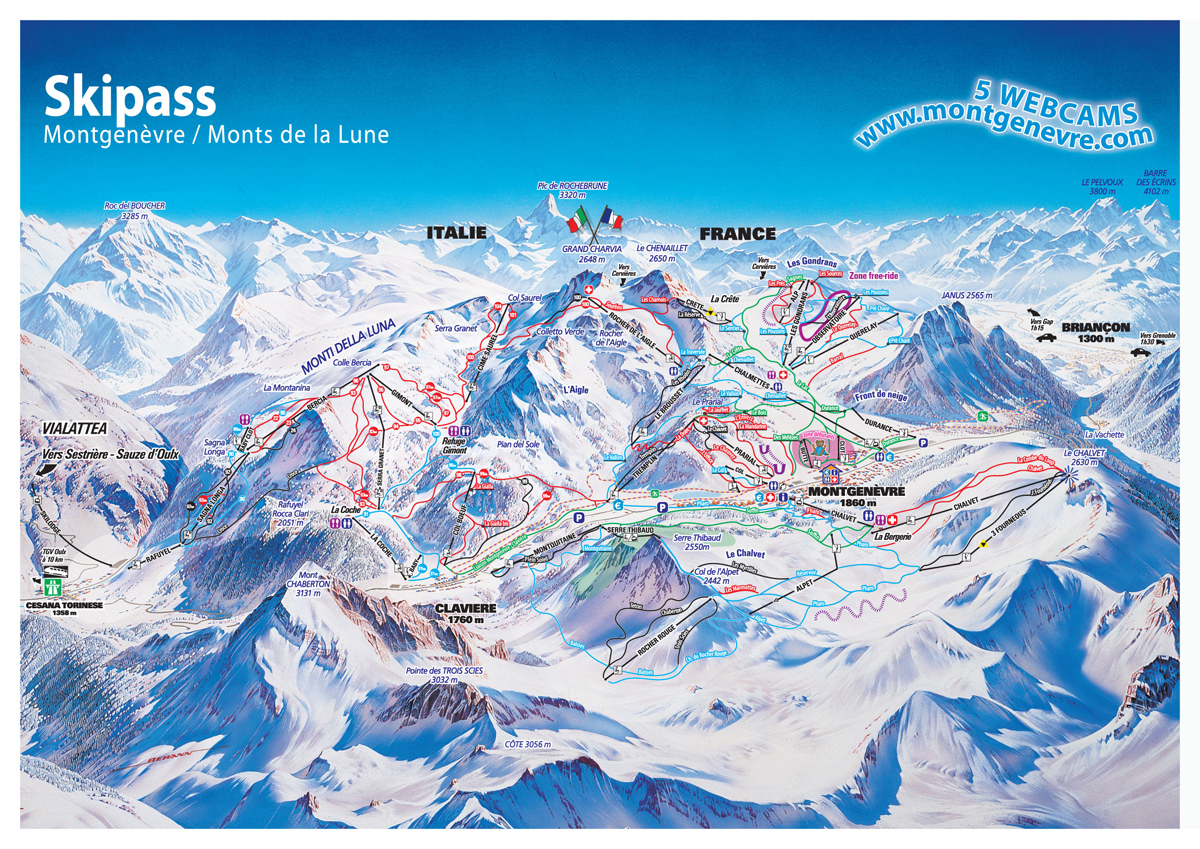 Montgenevre Ski Map Free Download