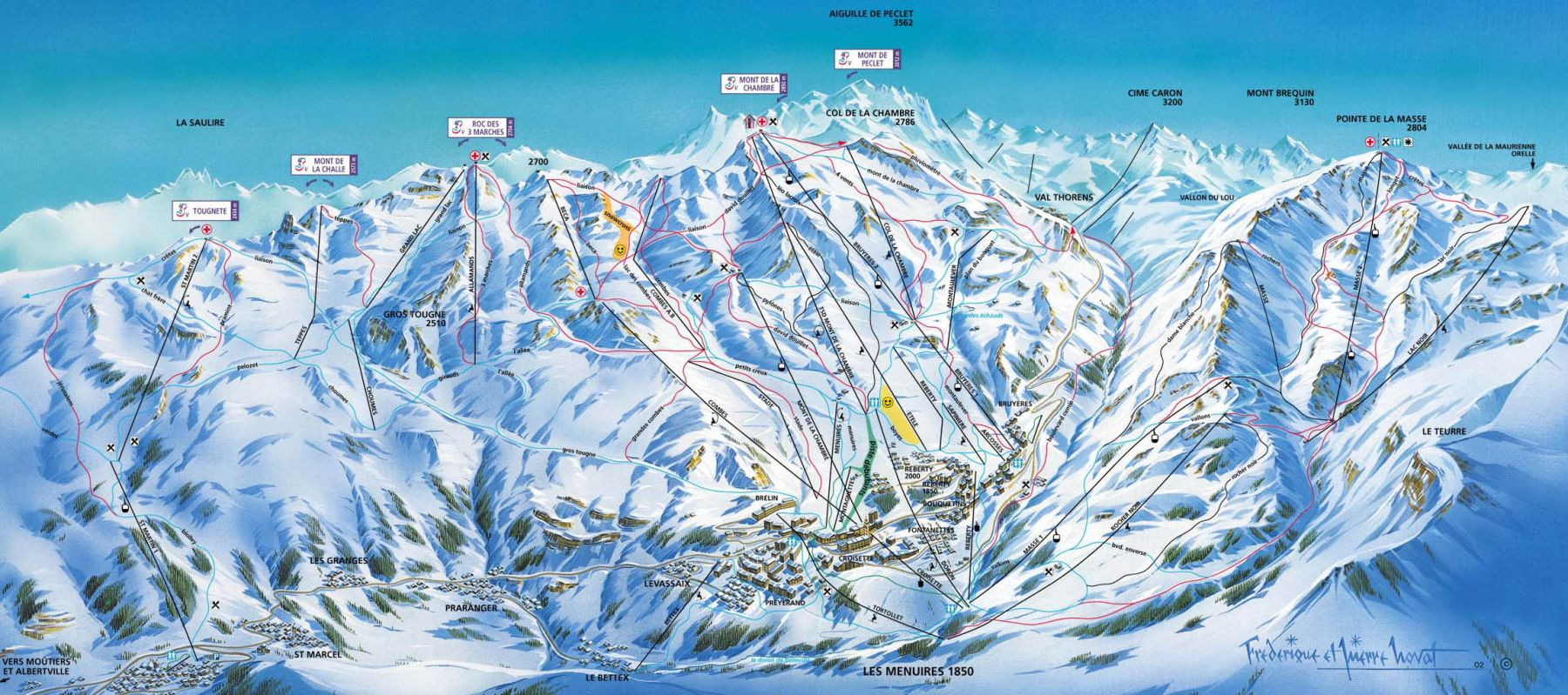 Les menuires ski map free download - St martin de belleville office du tourisme ...