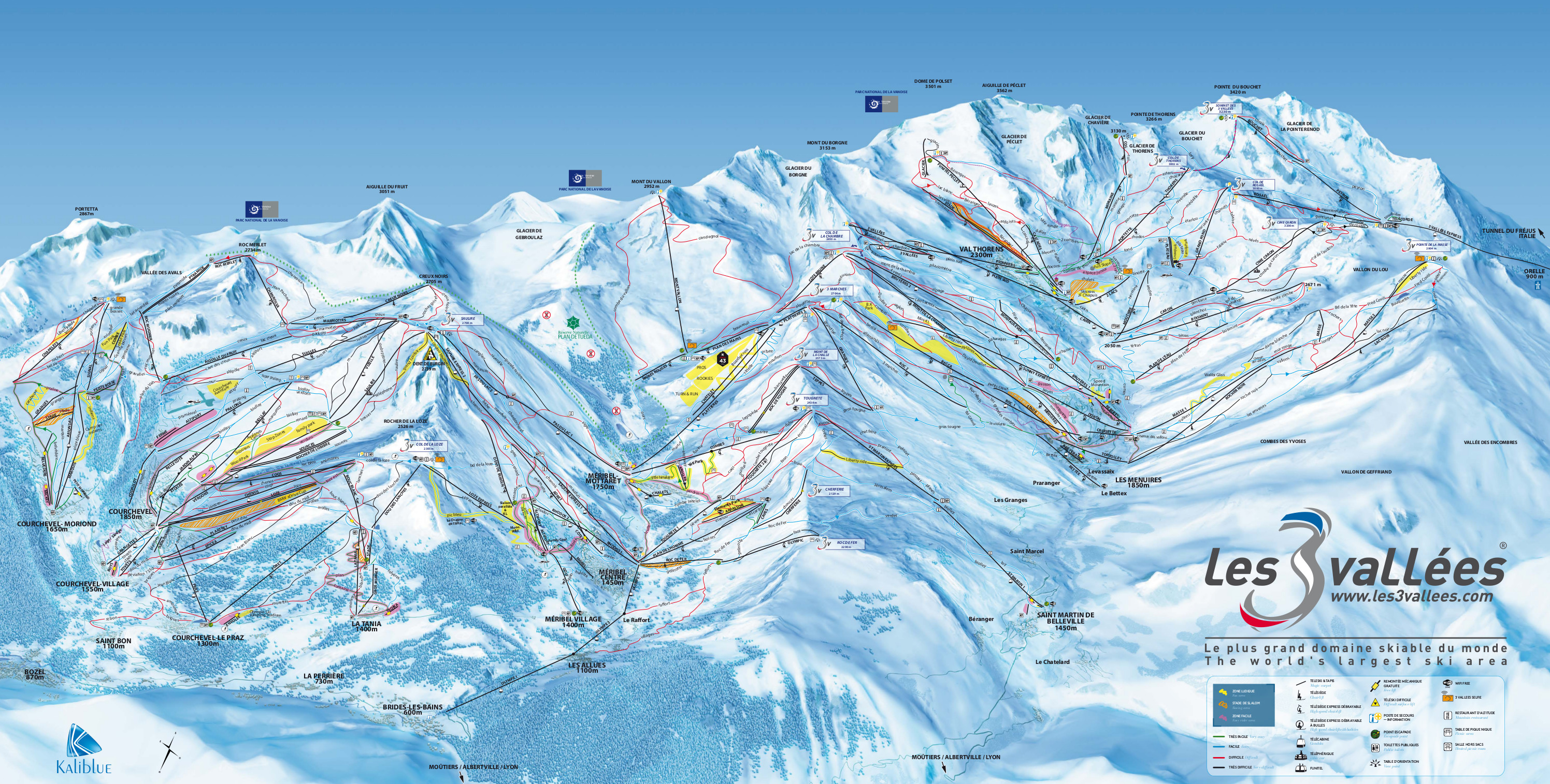 Three Valleys Ski Map Free Downloads