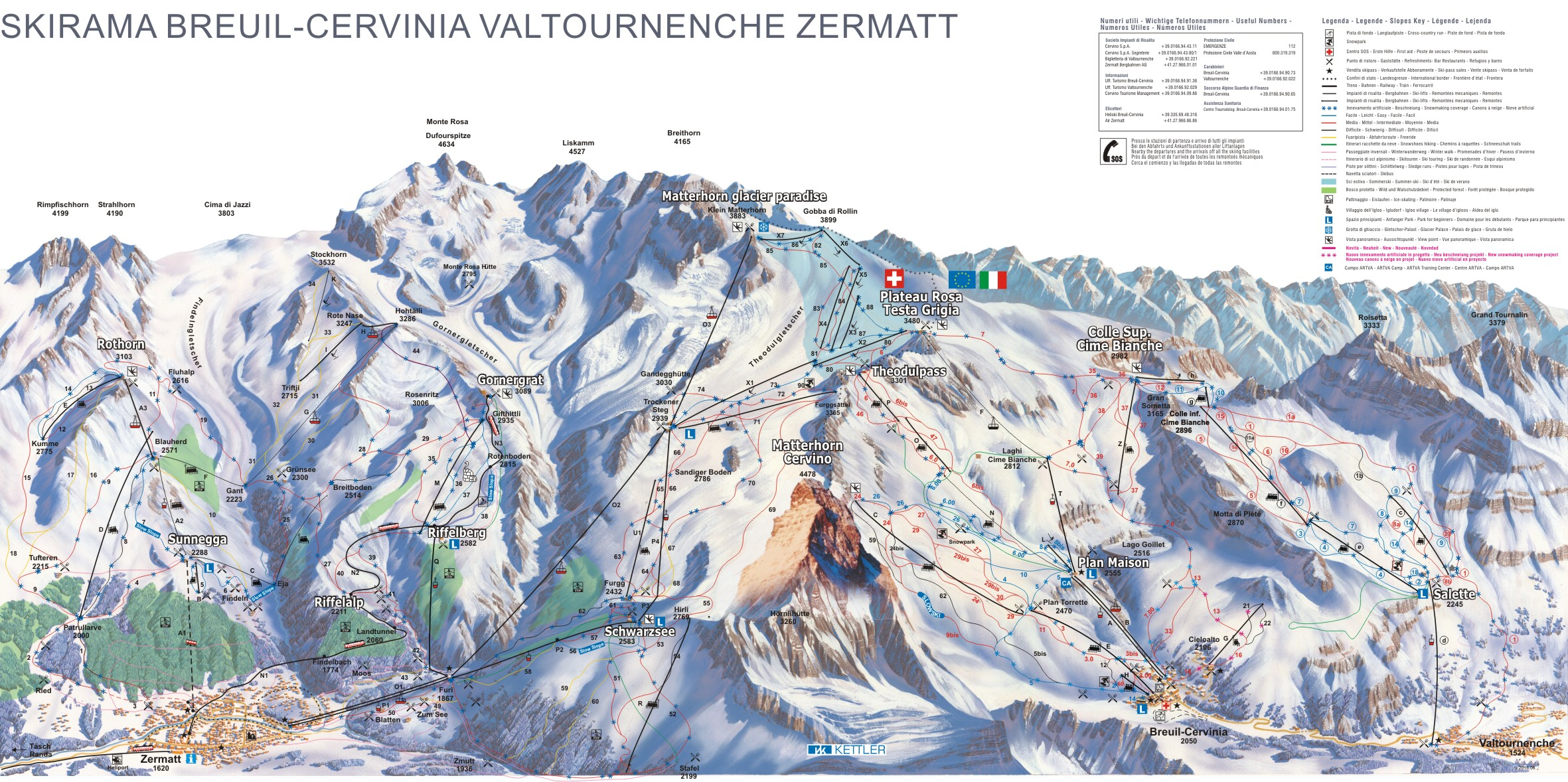 Cervinia Ski Trail Map Free Download