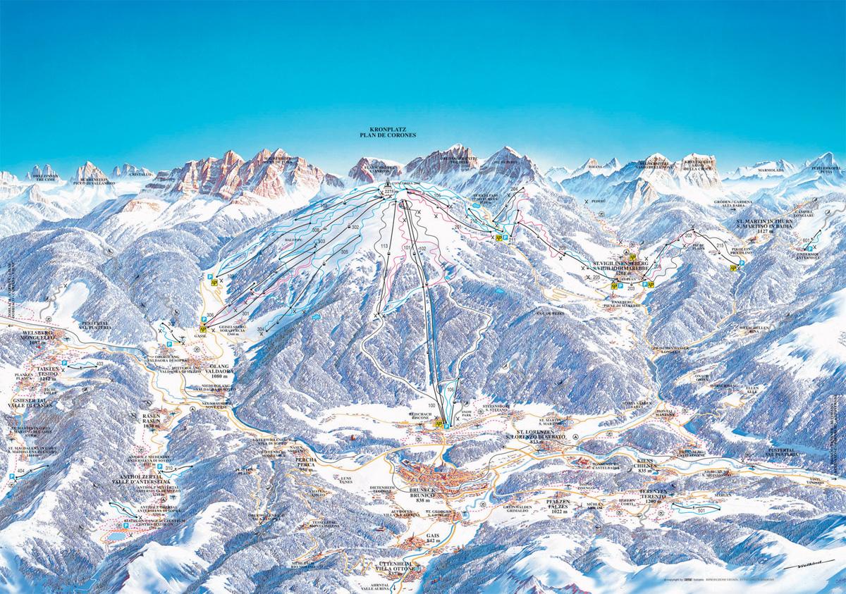 Plan De Corones Ski Map Free Download