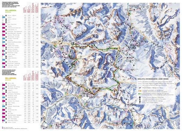 Sella Ronda Ski Trail Map