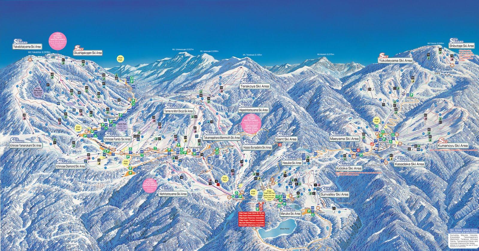 Shiga Kogen Ski Trail Map Free Download