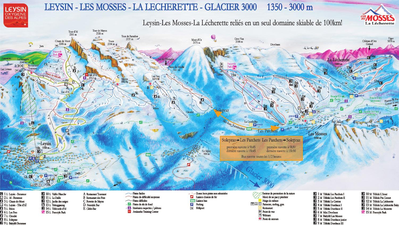 Free, downloadable Leysin Ski Maps .