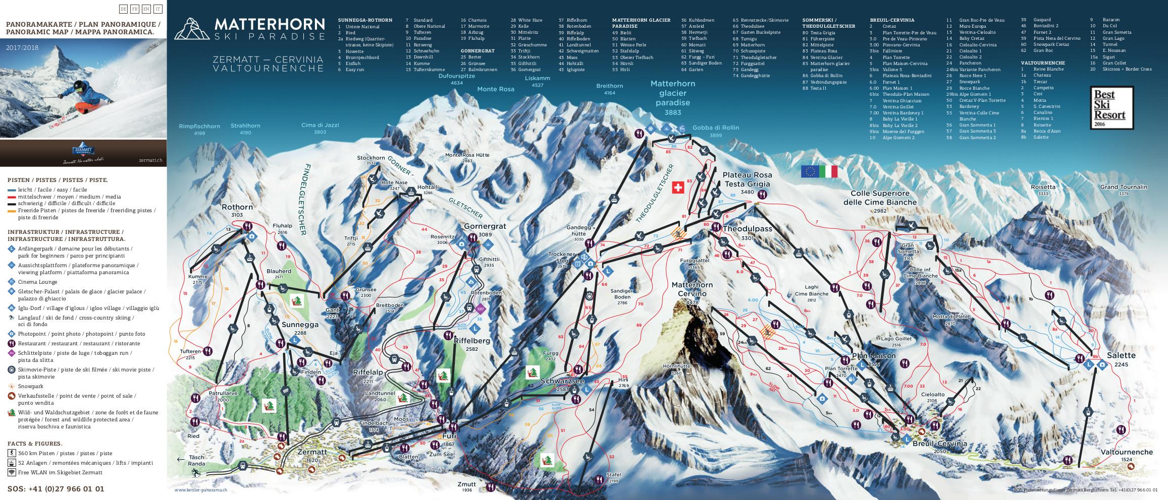 Zermatt Ski Trail Map Free Download