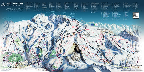Matterhorn Ski Trail Map