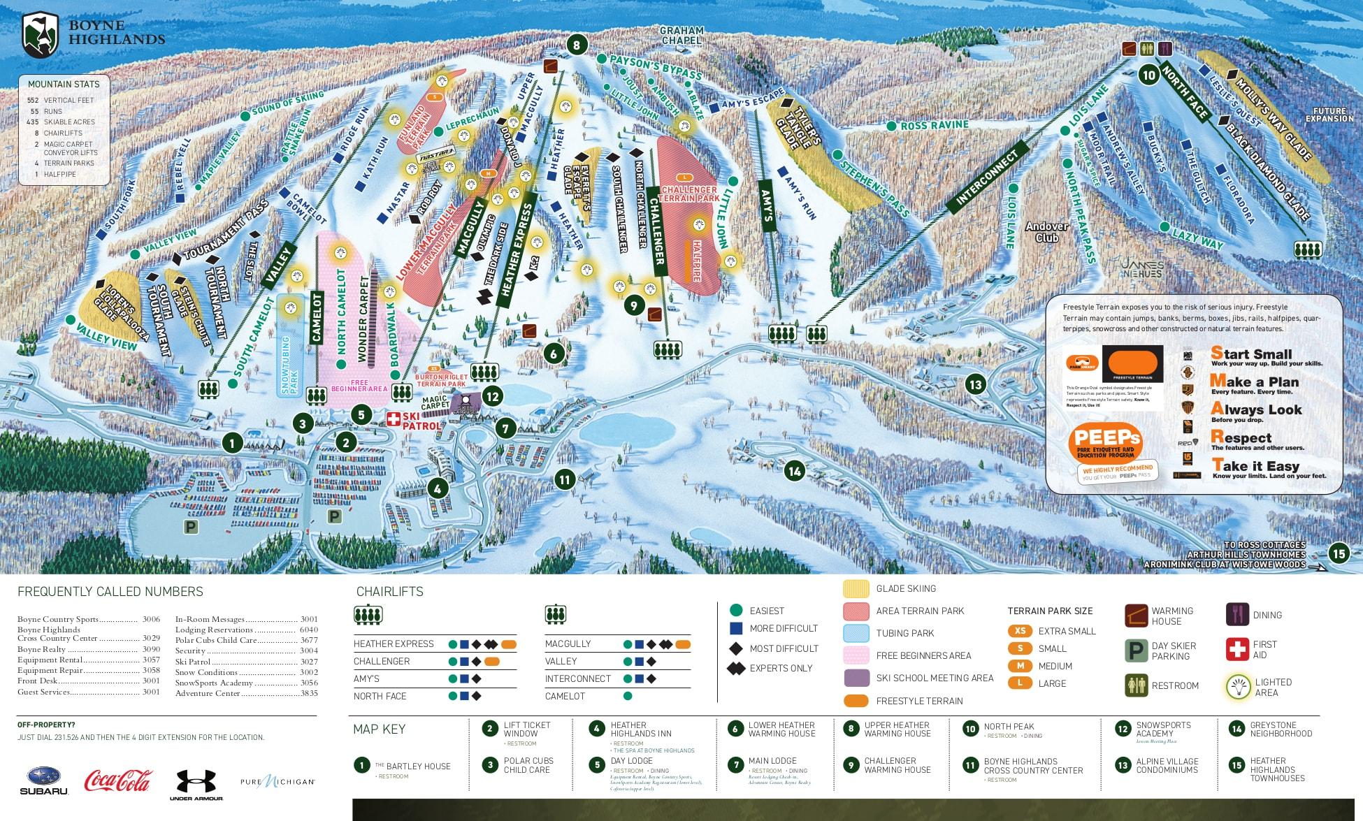 Boyne Highlands Ski Trail Map Free Download