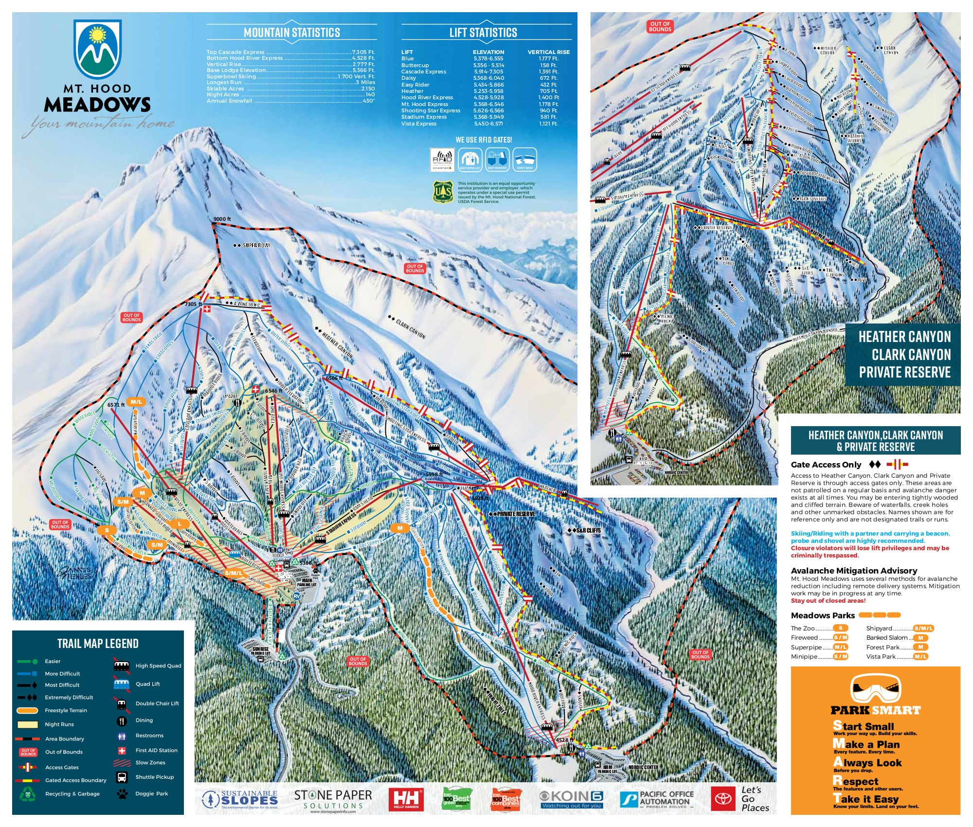 Mount Hood Ski Trail Map, Free Download on