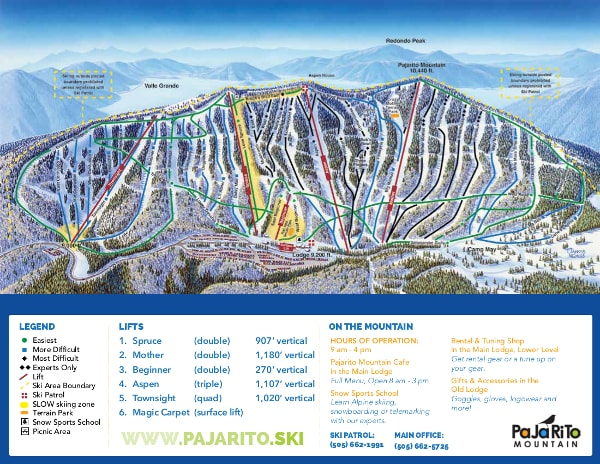 Pajarito Ski Trail Map Free Download