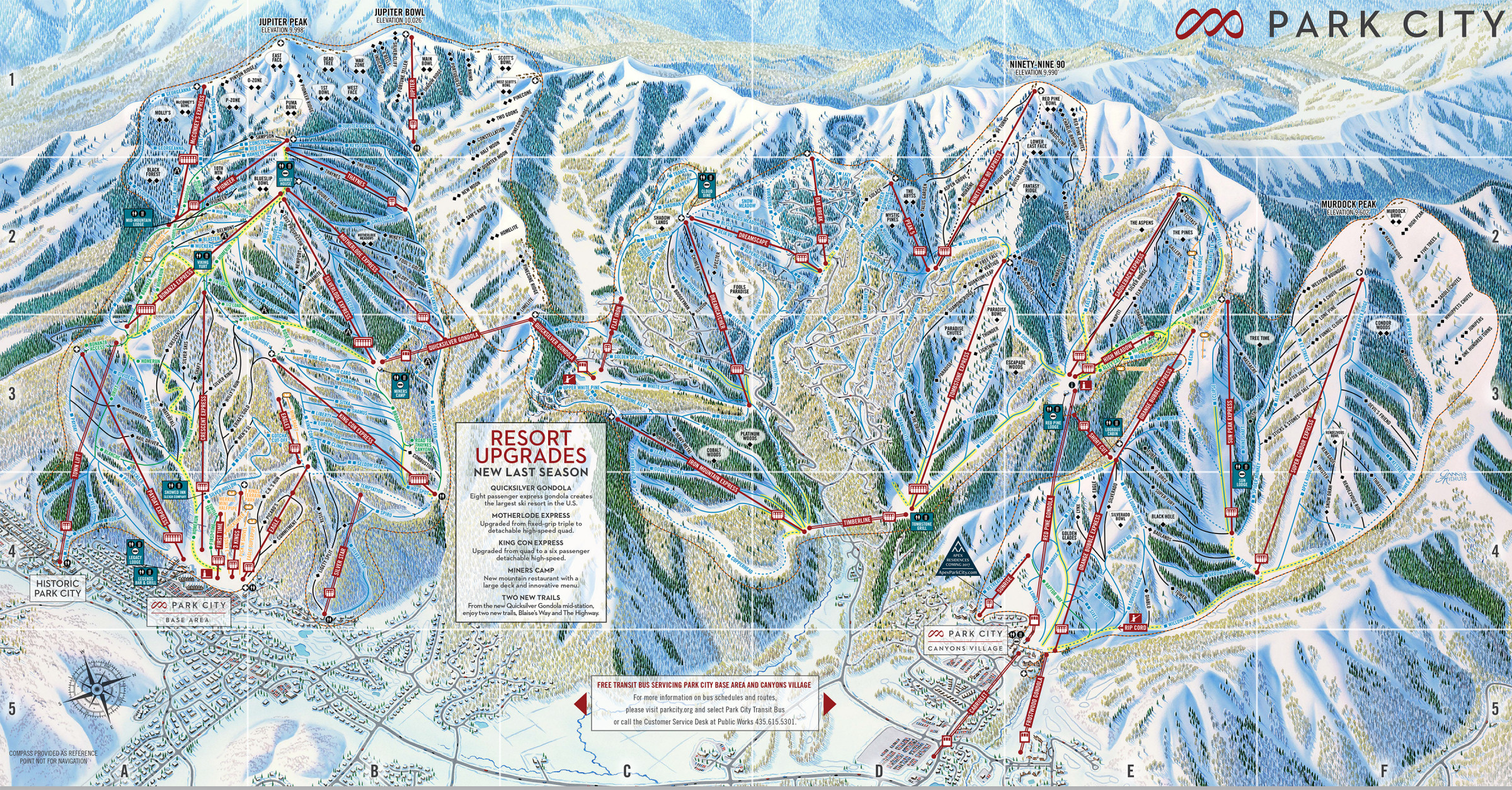 Park city ski map free download park city ski map gumiabroncs Image collections