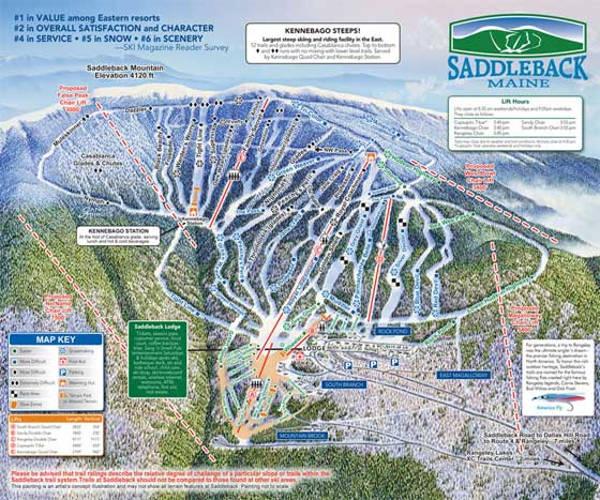 Ski Resorts In Maine Map.Saddleback Ski Map Free Download
