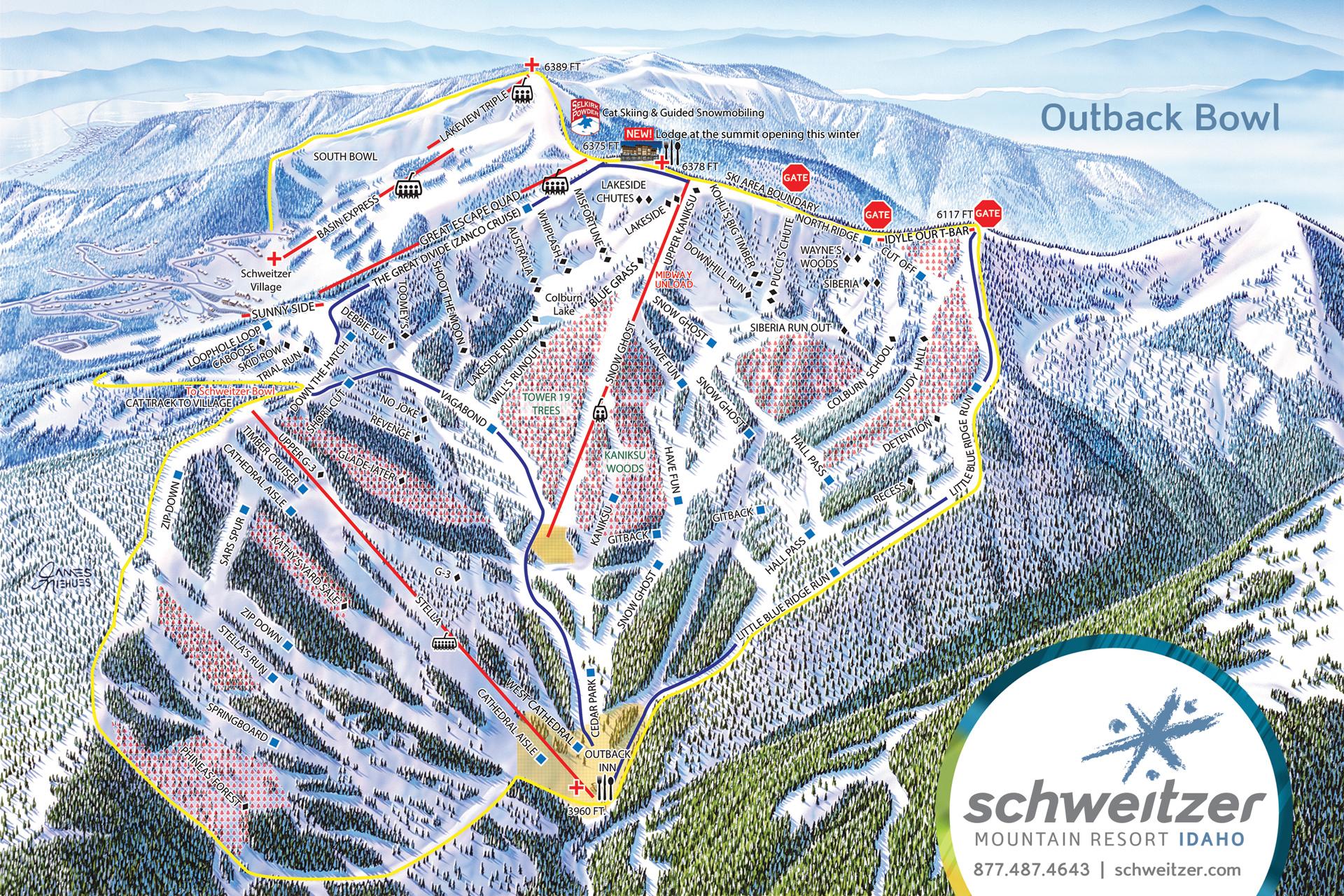Schweitzer Ski Track Map Free Download