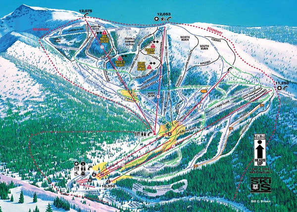 Ski In New Mexico Map.Ski Santa Fe Ski Trail Map Free Download