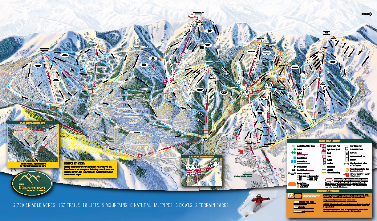 The Canyons Ski Map