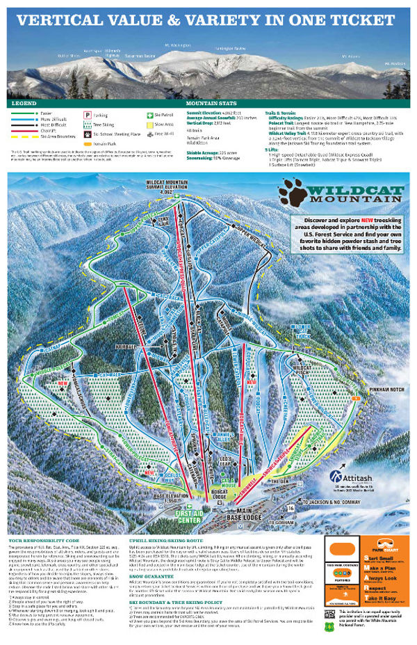 Wildcat mountain ski trail map free download wildcat mountain ski resort ski map gumiabroncs Image collections