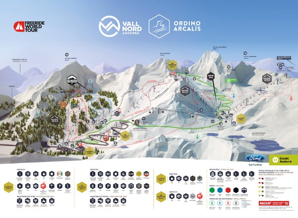 Ordino Arcalis Ski Resort Ski Trail Map
