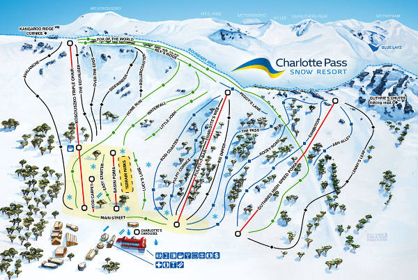 Charlotte Pass Ski Trail Map