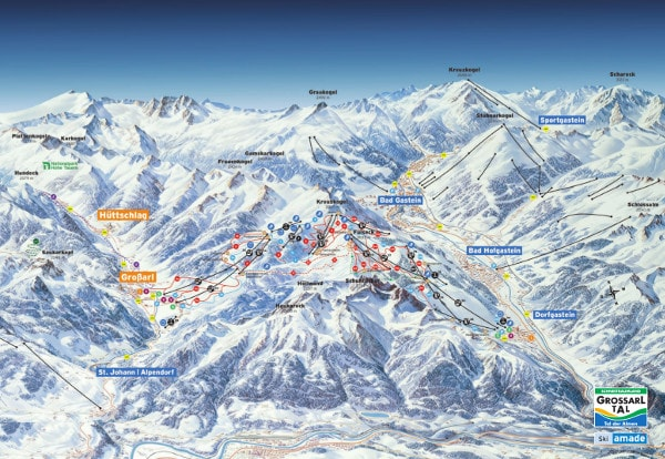 Grossarltal Ski Trail Map
