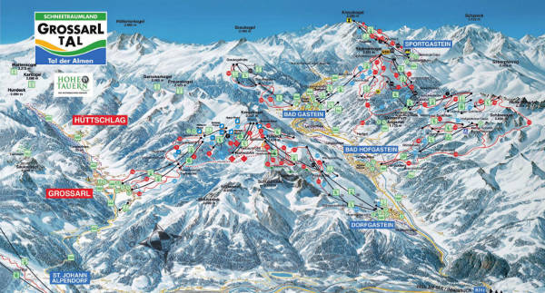 Grossarltal Ski Map