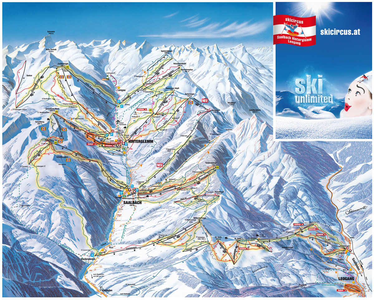 Hinterglemm Ski Map