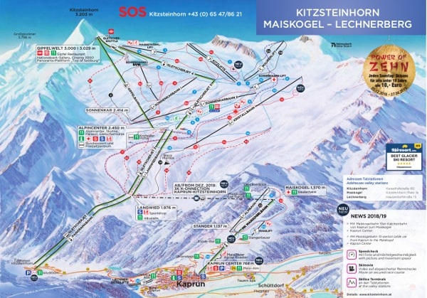 Kitzsteinhorn Ski Trail Map