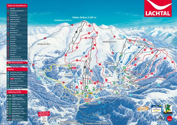Lachtal Ski Trail Map