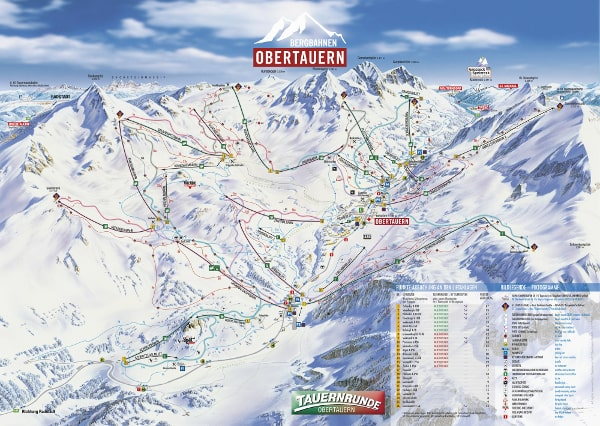 Obertauern Ski Resort Ski Trail Map