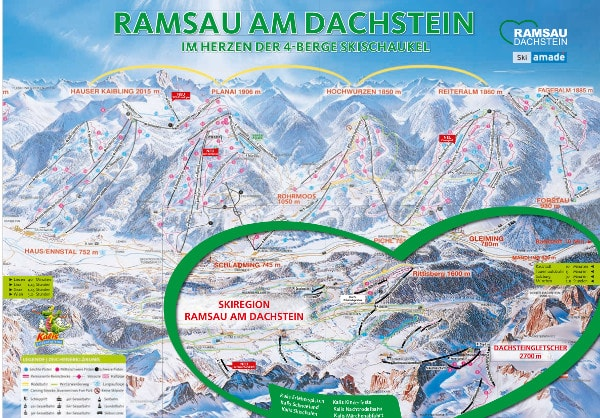 Ramsau Dachstein Ski Resort Ski Trail Map