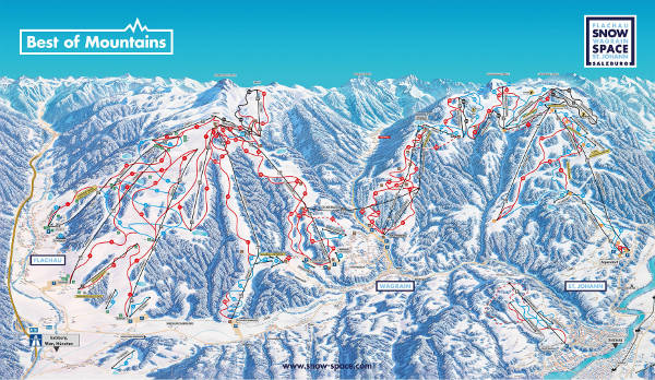 Snow Space Ski Resort Ski Trail Map