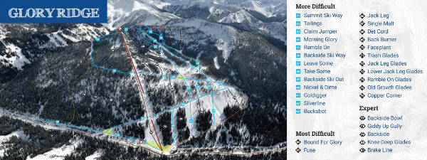 Glory Ridge Ski Resort Ski Trail Map
