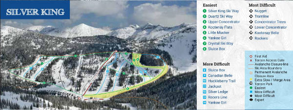 Silver King Ski Resort Ski Trail Map
