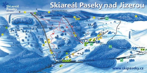 Paseky nad Jizerou Ski Trail Map