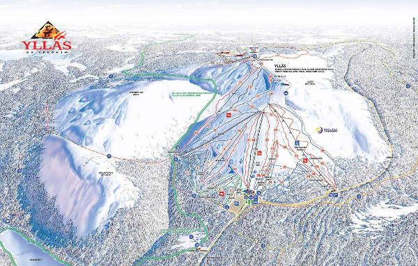 Yllas Ski Resort Ski Trail Map