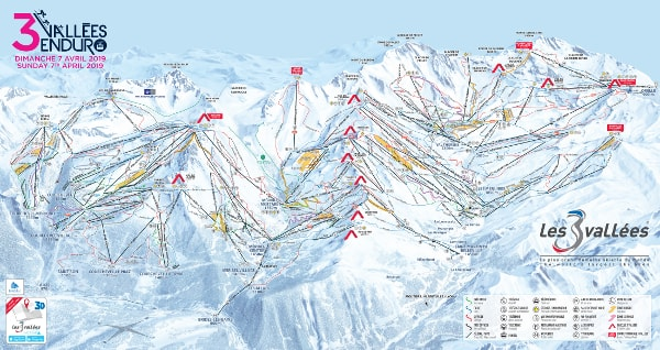 The Three Valleys Ski Trail Map
