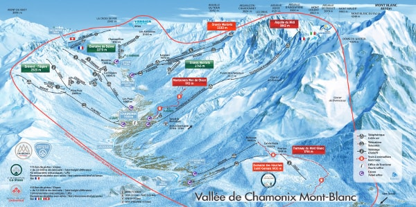 Chamonix Ski Trail Map