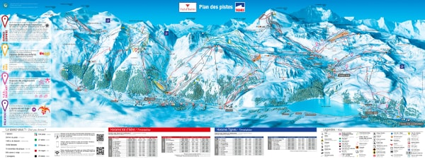 Tignes Ski Resort Ski Trail Map